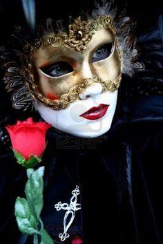 Venice Carnival - black mask