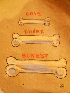 Bone - Boner - Bonest, #poster & #t-shirt by Vladimir Sokolov