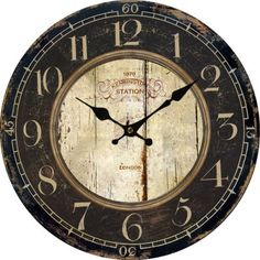 Vinatge clock vintage antique world map clock homeclocks sale round euro country vintage analog antique wall clock home decor us ca large hung in front room gumiabroncs Images