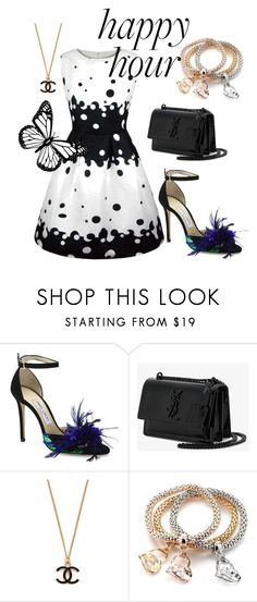 """""""Fashion"""" by jasmina-ishak ❤ liked on Polyvore featuring Jimmy Choo, Yves Saint Laurent and WithChic"""