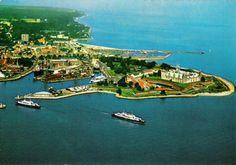 Luftfoto af havnen