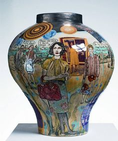 As I studied ceramics having a Grayson Perry Pot on my island would remind me of pottery lessons at school, college and teaching as well as wonderful ceramicists i have admired. This pot puts me at The British Museum Tomb of the Unknown Artist and meeting Grayson. I love the humour of this piece and the comments on it struck a chord. I was with some of my favourite people at the exhibition and its just a reminder of my life before being shipwrecked.