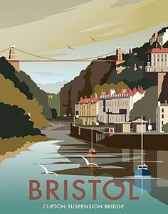 This Bristol Art Print is created using state of the art, industry leading Digital printers. A stunning Art Print featuring the design of Clifton Suspension Bridge over the River Avon, Bristol. Posters Uk, Railway Posters, Poster Prints, Art Prints, Poster Retro, Illustrations Vintage, Tourism Poster, Kunst Poster, Design Poster
