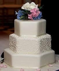 Image result for hexagonal wedding cakes