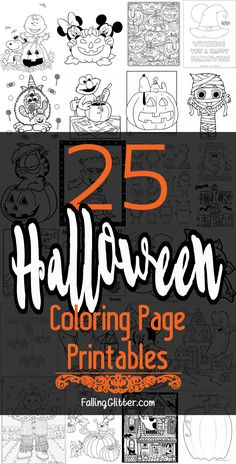 25 Halloween Printable Coloring Pages