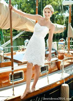 short wedding dress... I actually kinda like this... :)