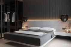 Trendy Home Design Color Palettes Ideas Home Colour Design, Home Design, Gray Bedroom, Trendy Bedroom, Black Bedrooms, Bedroom Yellow, Contemporary Bedroom, Modern Bedroom, Contemporary Building