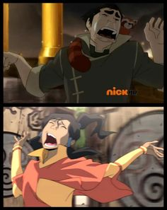 I always felt bad for Bolin, cause he had ONE sad moment and they made it funny. I cried for him inside....