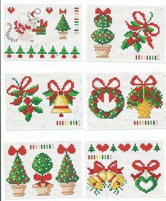 Imagem relacionada natale a punto croce рождественская вышив Cross Stitch Christmas Ornaments, Xmas Cross Stitch, Cross Stitch Needles, Cross Stitch Cards, Christmas Embroidery, Christmas Cross, Counted Cross Stitch Patterns, Cross Stitch Designs, Cross Stitching