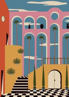 Les intérieurs colorés de l'illustrateur Chuck Gonzales