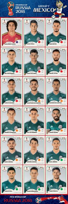 # Panini Stickers # Mexico National Team FIFA World Cup 2018 # Panini Stickers # Mexiko Nationalmannschaft FIFA WM 2018 futbol (Visited 1 times, 1 visits today) Uefa Football, Football 2018, National Football Teams, World Football, World Cup 2018 Teams, Fifa World Cup, Wold Cup, Panini Sticker, Mexico World Cup