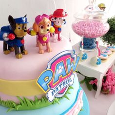 Cute cake at a Paw Patrol birthday party! See more party ideas at CatchMyParty.com!