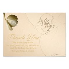 #monogram - #Gold Orchid Thank You Cards