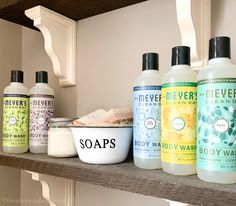 This post has been sponsored by Mrs. Meyer's Clean Day. All thoughts and opinions are my own. When you go into your local grocery store or Walmart, how do you know where to even begin when it… Farmhouse Style Kitchen, Farmhouse Bathrooms, Farmhouse Decor, Hard Water Stains, Glossy Makeup, Cleaning Spray, Hand Lotion, Body Wash, Grocery Store