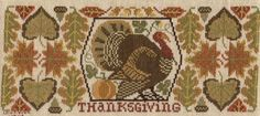 """A Prairie Schooler cross stitch from the book """"Harvest Time""""."""