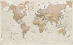 World Antique Megamap 1:20, Wall Map Jättijuliste