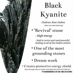 Black Kyanite crystal meaning~ It also recharges any stones with a simple touch💕❣