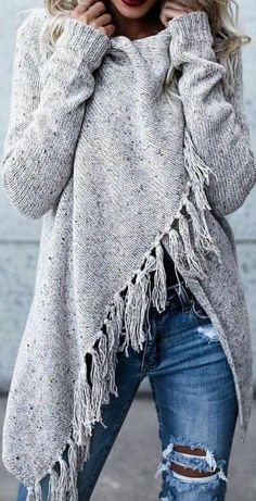Such a cute cozy look and a favorite grey colored sweater!