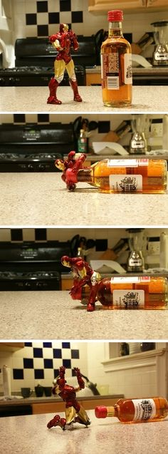 This is the correct way to play with your Iron Man toys.