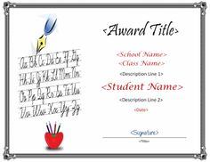 Skill Development Through Handwriting – Improve Handwriting Free Certificate Templates, Free Certificates, Improve Handwriting, Handwriting Practice, Name Signature, Award Template, Certificate Of Completion, Learning To Write, Projects To Try
