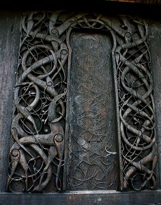 North wall Portal. Urnes Stave Church, Norway.