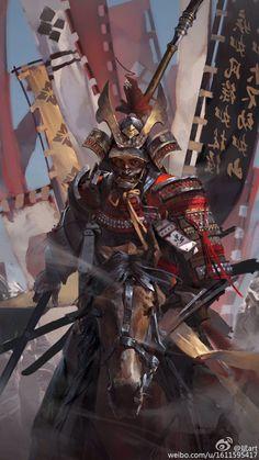 Warrior archetype – Samurai – Original character (illustration by 斌art) Ronin Samurai, Samurai Warrior, Samurai Anime, Female Samurai, Woman Warrior, Japanese Culture, Japanese Art, Fantasy Warrior, Fantasy Art