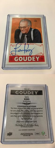 Other Sports Trading Cards 217: 2016 Upper Deck Goodwin Champions Larry King Goudey Auto -> BUY IT NOW ONLY: $30 on eBay!