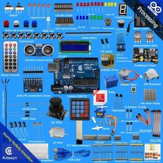 New Ultimate UNO R3 Starter Kit for Arduino LCD1602 Servo Motor Relay processing #Adeept