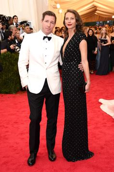 The 23 Chicest Couples at the Met Gala 2014 : Christy Turlington-Burns and Ed Burns in Calvin Klein Collection