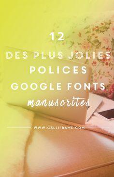 12 jolies polices d'écriture manuscrite