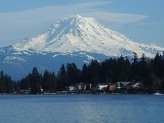 ...The view of Mount Rainier from Lake Tapps is amazing!