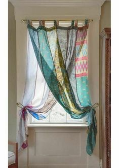 Light and airy OOAK silk curtains are gorgeous and inexpensive too! Perfect for Bohemian or Eclectic decor. Silk Curtains, Panel Curtains, Bohemian Curtains, Patchwork Curtains, Unique Curtains, Window Panels, Drapery, Eclectic Curtains, Inexpensive Curtains