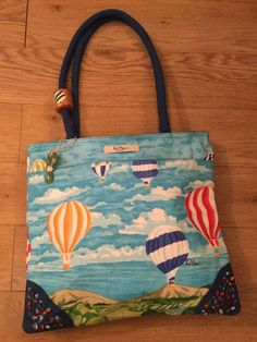 Paul Brent Costal Life,Tote Bag,blue Textile With Hot Air Balloon Design,mint Co   eBay