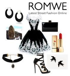 """""""1"""" by alma-ja ❤ liked on Polyvore featuring Jimmy Choo, Yves Saint Laurent and Bling Jewelry"""