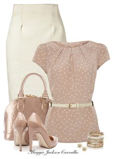 """""""Polka Dot"""" by maggie-jackson-carvalho ❤ liked on Polyvore featuring Kenzo, Louis Vuitton, A