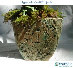 This simple mixture of Portland cement with substances like perlite and peat moss makes porous artificial stone pots, planters, or garden art in any shape or size you can imagine. Description from indulgy.com. I searched for this on bing.com/images