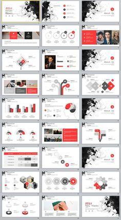 Best Creative Annual Charts PowerPoint template on Behance Web Design, Chart Design, Design Presentation, Business Presentation, Template Power Point, Powerpoint Design Templates, Bussiness Card, Business Plan Template, Startup