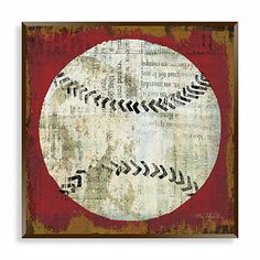 Vintage Sports I Wall Art - BedBathandBeyond.com I would love to DIY this and make it swimming!! Maybe with old caps in the background rather than paper