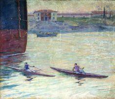 """Adolfo Guiard. """"Casa de baños de Las Arenas"""", 1906. Real Club Marítimo del Abra, Getxo"""