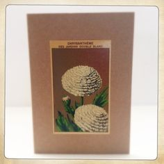 A6 blank folded card with envelopeAll our cards are hand made Each uses an original vintage french seed packet labelPackaged in protective cellophane sleeve