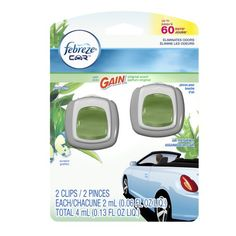 Febreze Car Gain Original Air Freshener (2 Count, 2 Ml Each), 0.13 Ounce Febreze