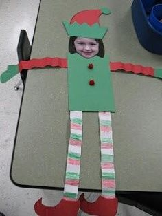 "Kindergarten / kids craft idea for a Christmas elf"" data-componentType=""MODAL_PIN Preschool Christmas, Christmas Crafts For Kids, Christmas Elf, Christmas Projects, Christmas Humor, Holiday Crafts, Holiday Fun, Christmas Ideas, Christmas Patterns"