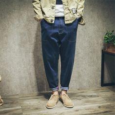 >> Click to Buy << Men Classic Blue Jeans Straight Casual Zipped Jogger Cotton Elastic Waist Jean Pants for Men D5165 XS-4XL  #Affiliate
