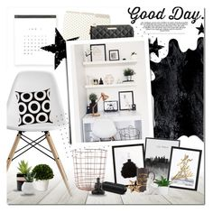 """""""Good Day."""" by justlovedesign ❤ liked on Polyvore featuring interior, interiors, interior design, home, home decor, interior decorating, Design Within Reach, Dorel, Kate Spade and Tim Holtz"""