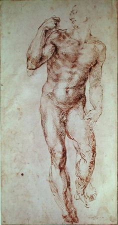 Michelangelo Buonarroti Nude Male Figure Seen Frontally Circa 1502 1506 print for sale. Shop for Michelangelo Buonarroti Nude Male Figure Seen Frontally Circa 1502 1506 painting and frame at discount price, ships in 24 hours. Guy Drawing, Life Drawing, Drawing Sketches, Painting & Drawing, Art Drawings, Figure Drawings, Michelangelo, Caravaggio, Louvre Paris