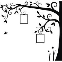 Adesivo de Parede Árvore Encantada X4 Adesivos Uma Cor (140x135cm)