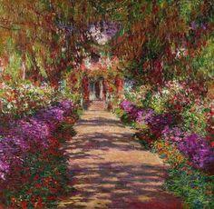 منتهى الروعة !! Monet's Garden Path