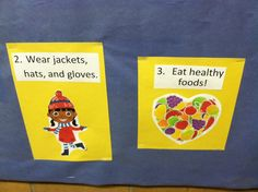 School is a time to teach students both academic content and social-emotional skills. This bulletin board, posted in a kindergarten-3rd grade wing, explicitly described ways for students to stay healthy - and as a result, supporting their presence both physically and emotionally at school.