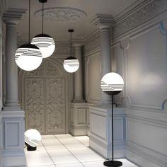 The interior of Lee Broom's light installation inside a van.
