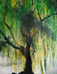 Ever since I was a little girl I've lived willow trees. Definitely going to paint one soon!